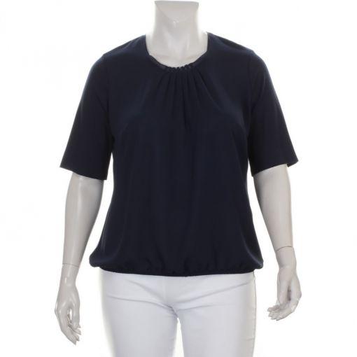 Sommermann blauw shirt sierlijk geplooid