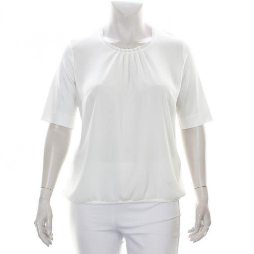 Sommermann roomwit shirt sierlijk geplooid