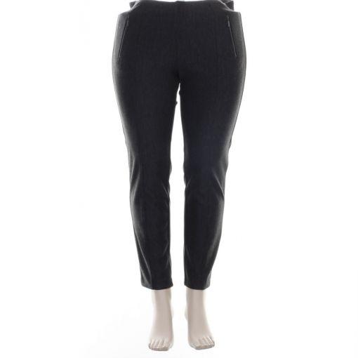 Stark zwart grijze slim fit broek