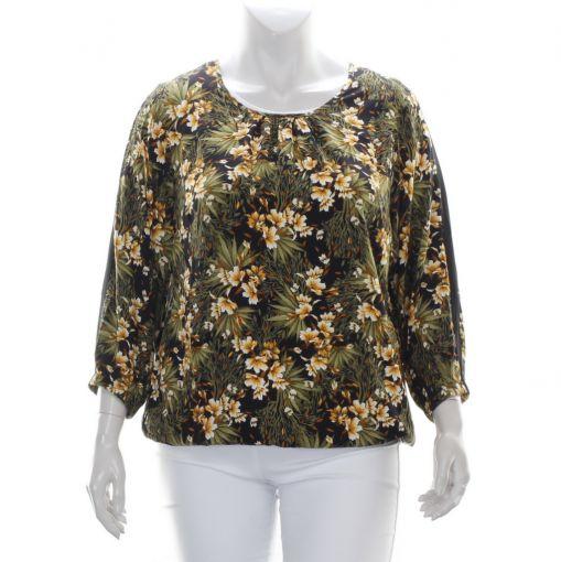 Studio blouse met bloemenprint