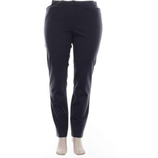 Adelina blauwe stretch broek pull on model
