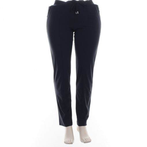 Only- M pantalon travelstof donkerblauw