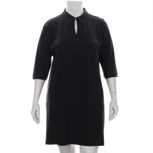 Only-M zwarte travelstof jurk