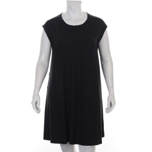 Aino zwarte mouwloze jurk