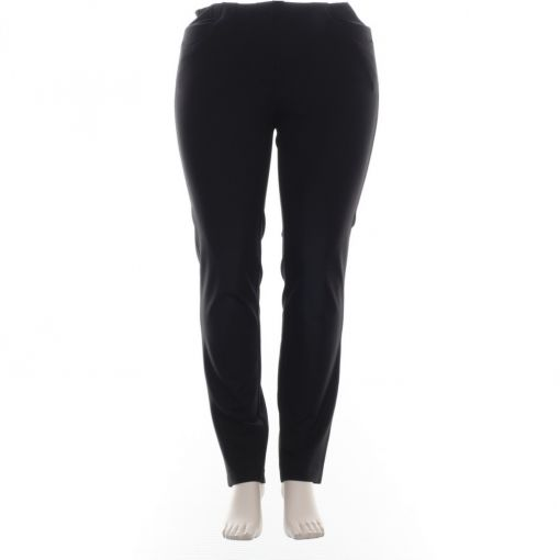 Adelina zwarte broek pull on model super stretch