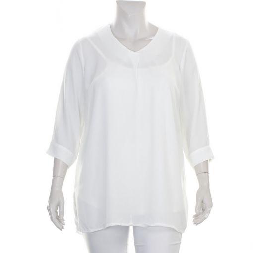 Ciso witte tuniek met voile stof