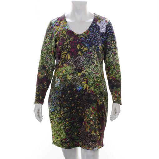 Twister kleurrijke scuba jurk