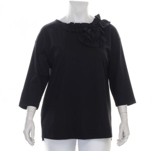 Verpass zwart shirt met roezel