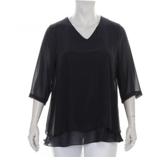 Verpass zwarte blouse met voile stof