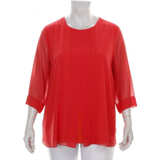 Verpass koraalrode voile blouse