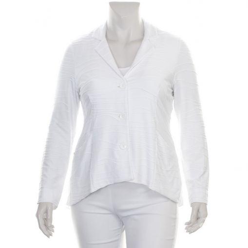 Vetono witte blazer met reliefprint