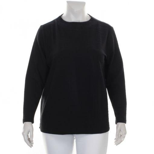 Via Appia zwart shirt met reliefprint