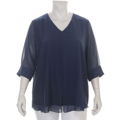 Verpass blauwe blouse  met voile stof