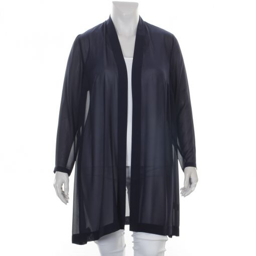 Kirsten Krog Design lange voile blauwe blouse