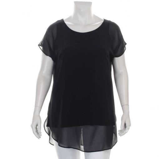 Doris Streich voile zwarte blouse