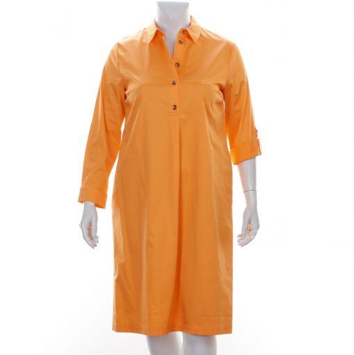Xandres Gold oranje katoenen jurk