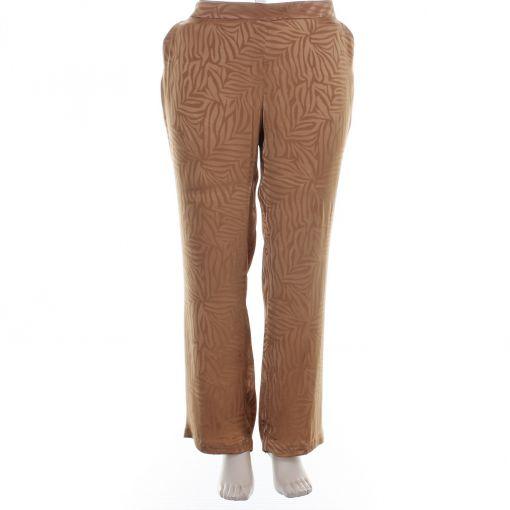 Xandres Gold broek bruin met glanzende print