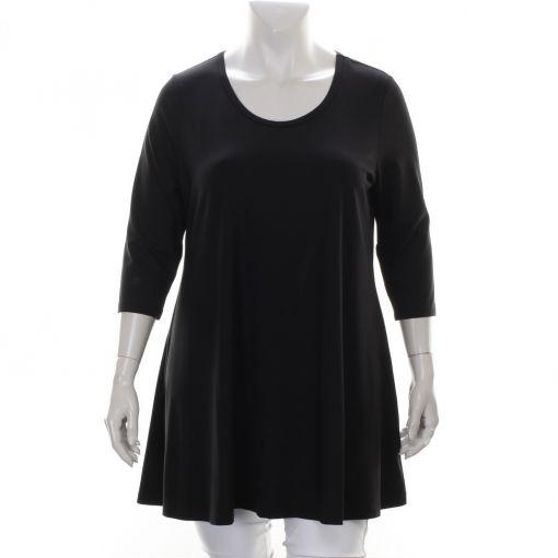 Yesta zwart shirt met A-lijn
