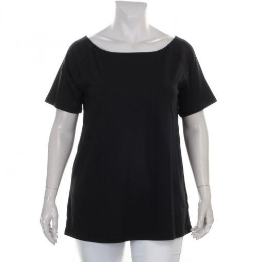 Yesta zwart shirt met ronde hals