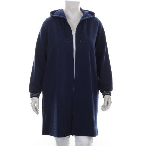Yesta blauw sportief vest met capuchon