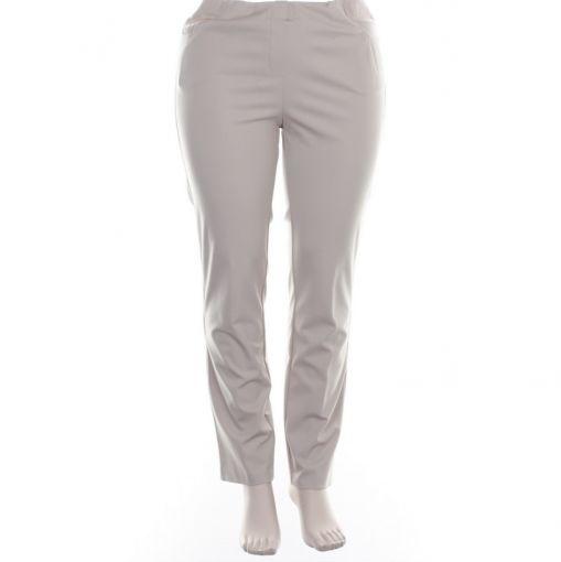 Adelina zandkleurige broek pull on model super stretch