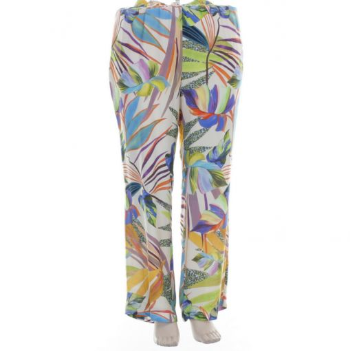 Twister kleurrijke broek bladprint