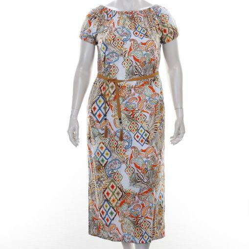White Label kleurrijke jurk met etnische print