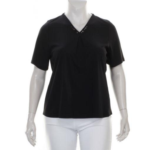 Godske zwart shirt met versierde halslijn