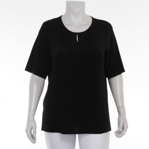 Mona Lisa shirt zwart geplooid