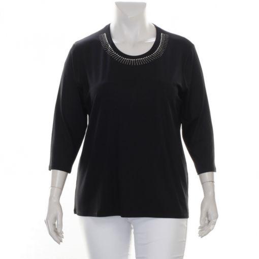 Karntner zwart shirt met strass