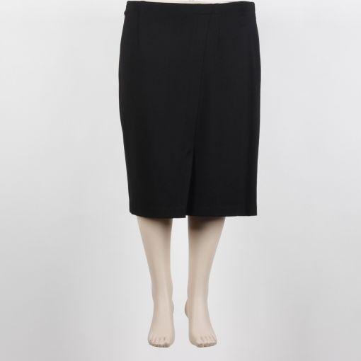 Verpass zwarte rok met split aan voorkant