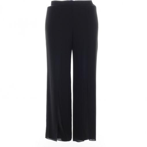 Hermann Lange zwarte voile pantalon met split