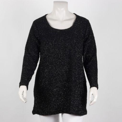 Carleoni zwarte pullover met zilverglans