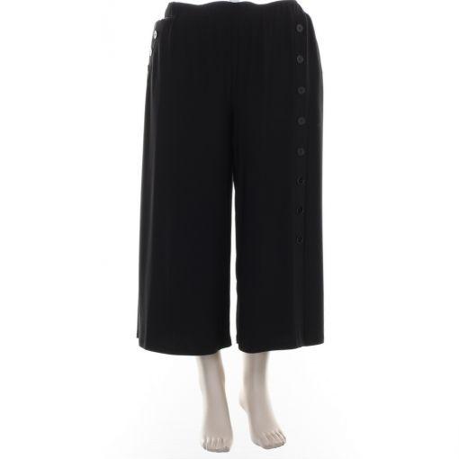 Tia zwarte wijde culotte broek