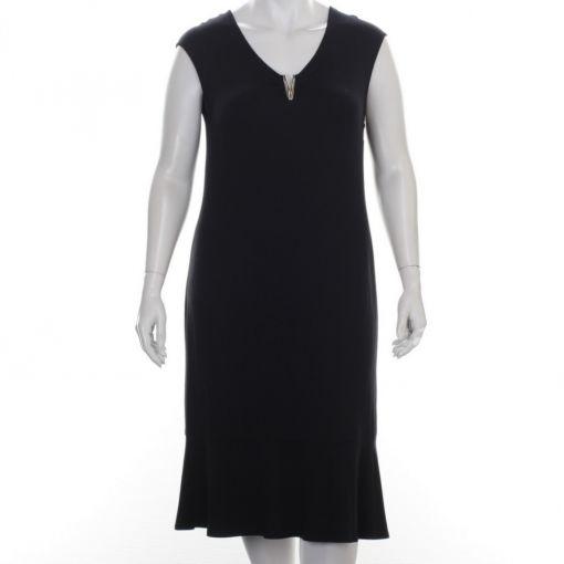 Doris Streich zwarte jurk met sierlijke V-hals