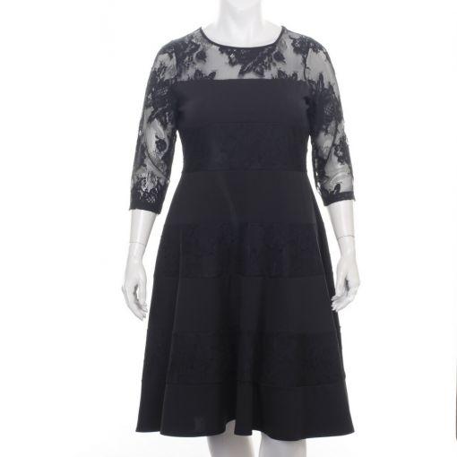 Tia zwarte jurk met kant