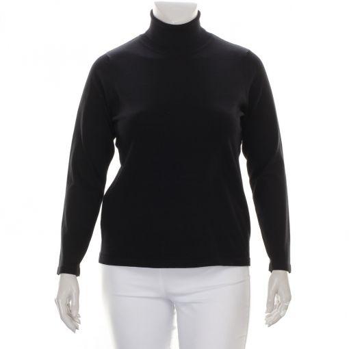 Signature zwarte pullover met col