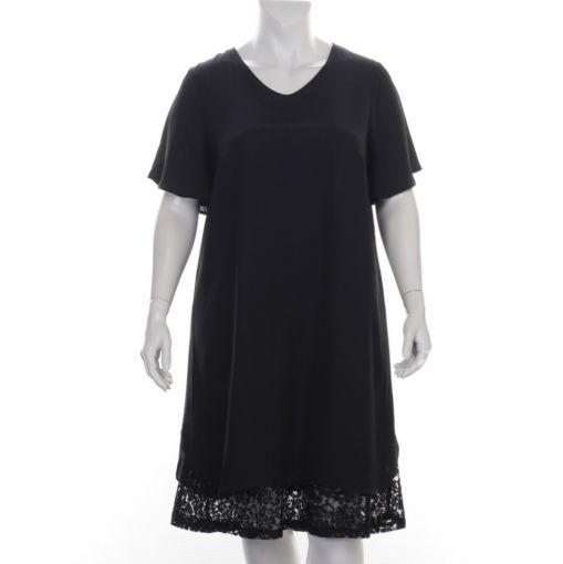 Cisco zwarte jurk met voile stof en kant