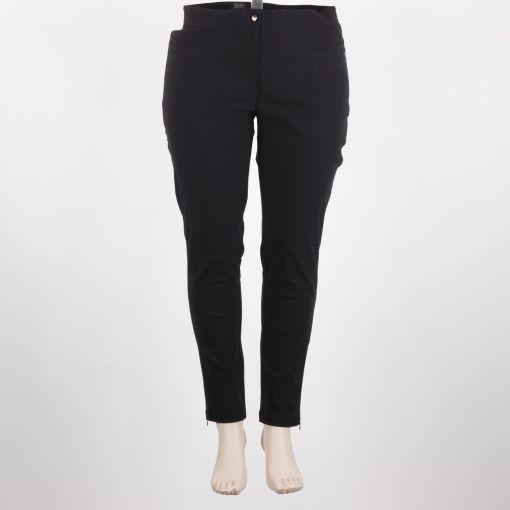 Zwarte smal aansluitende stretch broek model Sanna merk Laurie