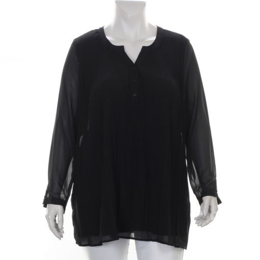 Ciso zwarte plisse blouse