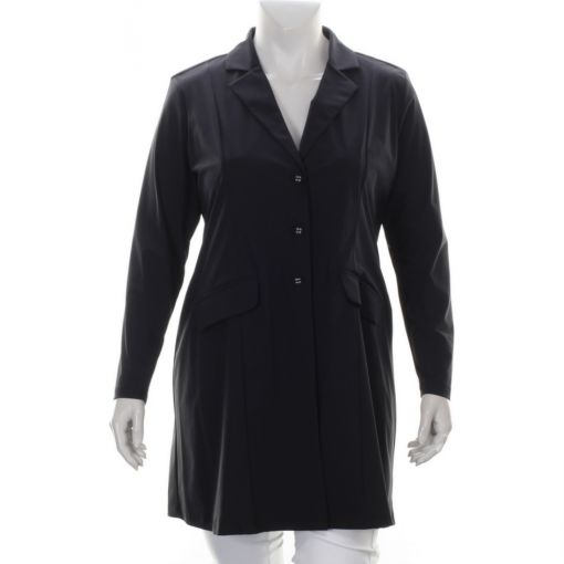 Plus Basics lange zwarte blazer