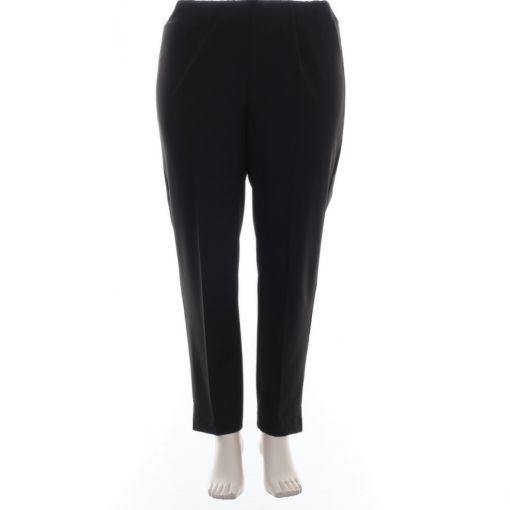 Verpass zwarte pantalon met plooi en rondom elastiek
