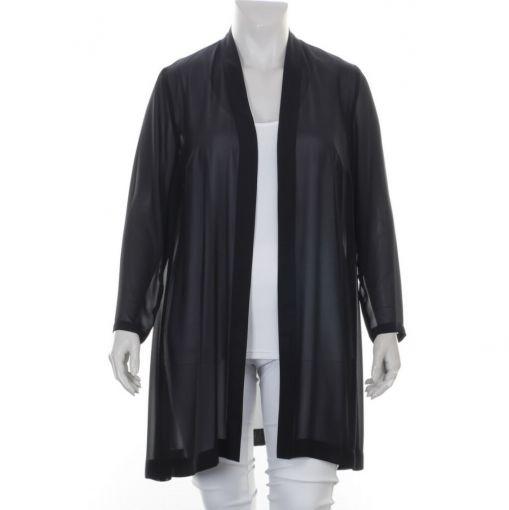 Kirsten Krog Design voile zwarte blouse
